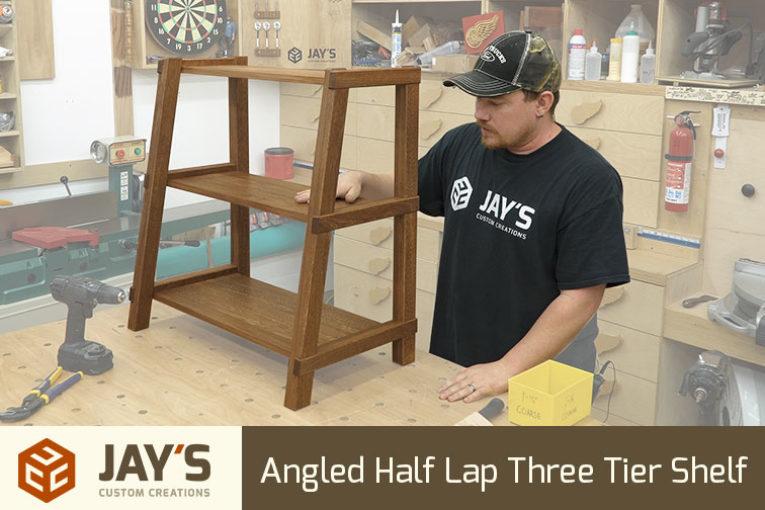 Angled Half Lap Three Tier Shelf