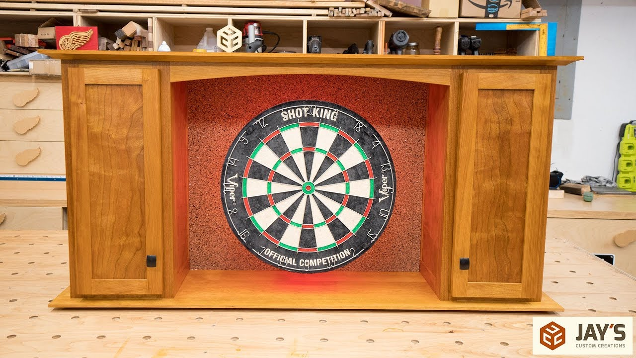 Cherry Dartboard Cabinet Complete In Depth Build Jays Custom Creations