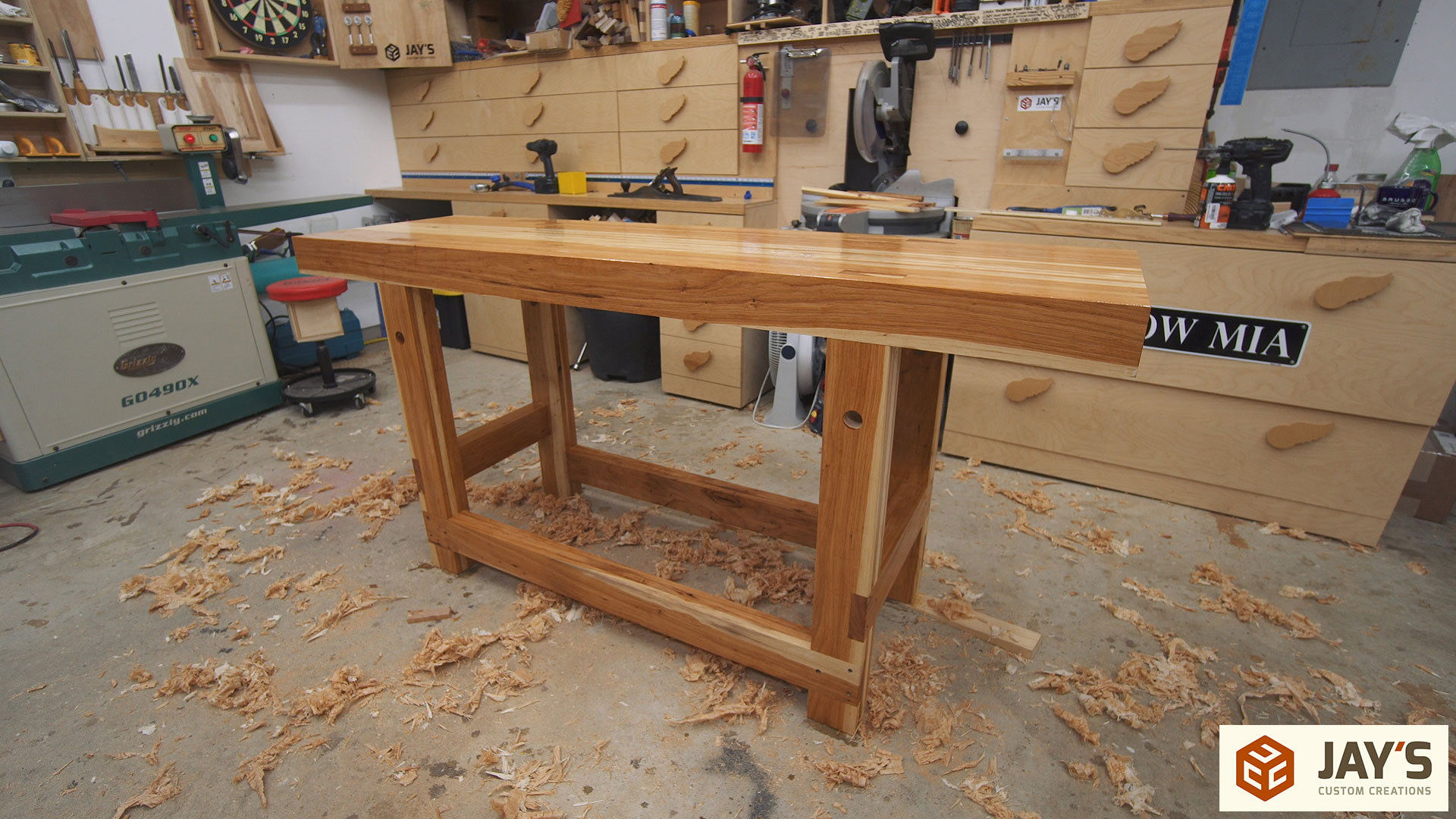 Marvelous In The Next Video For This Workbench Iu0027ll Cover Installing A Leg Vise And  Adding Dog Holes. Now That It Is Complete, What Do I Think Of Working On A  ...