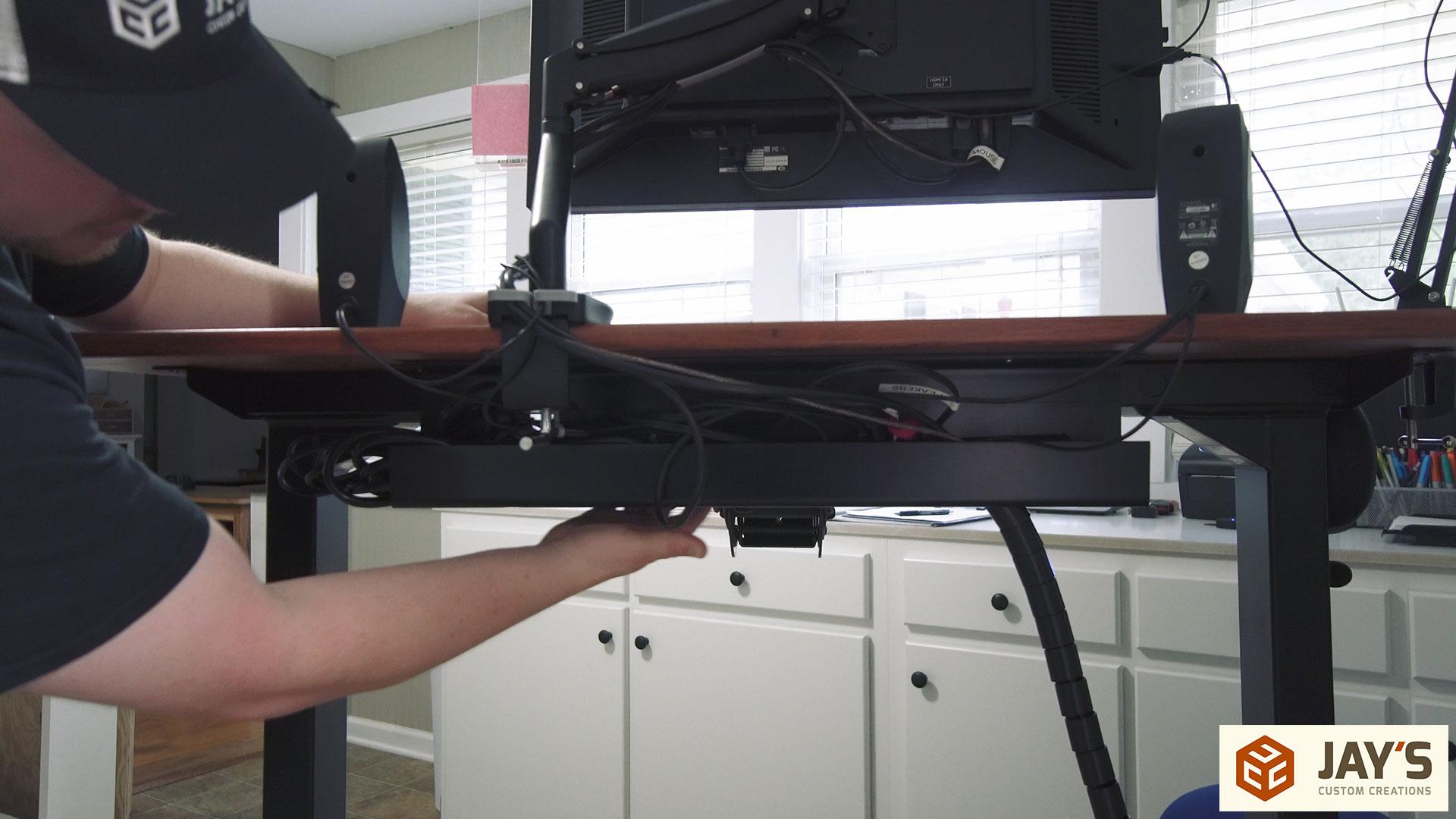 Custom Bubinga Uplift Computer Desk Jays Custom Creations