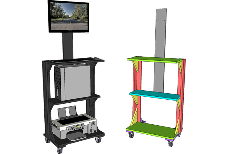 Mobile Stand Up Computer Desk Plan