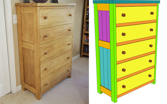 Tongue And Groove Chest Of Drawers Plan