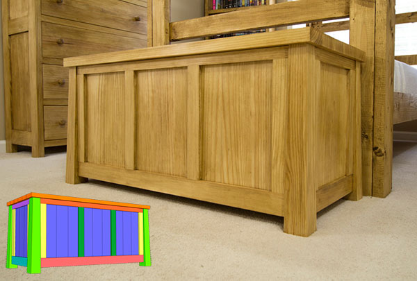 Tongue And Groove Blanket Chest PLAN